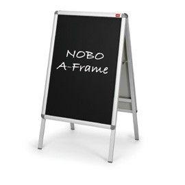 COPPIA DI INSERTI NERO SCRIVIBILE F.TO A1 PER CAVALLETTO A-FRAME A1 NOBO