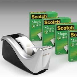 DISPENSER C60 + 4 ROTOLI SCOTCH MAGIC 810 19MMX33M