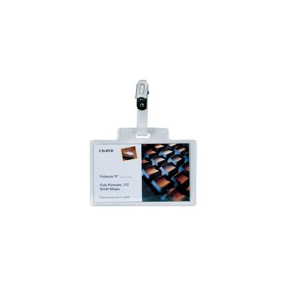 100 PORTANOME PASS 3M 9,5X6CM C/CLIP METALLO S/CARTONCINO