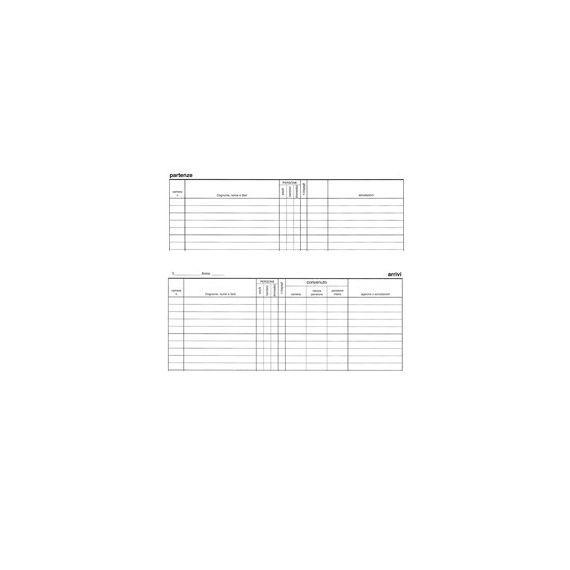 REGISTRO ARRIVI PARTENZE 31x24.5cm 46pag E2839 EDIPRO
