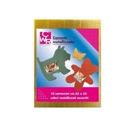 10FG CARTONCINO ONDULATO 50X70CM ORO METAL ART 2225/1 CWR