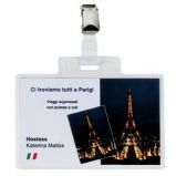 BLISTER 5 PORTANOME PASS 4E 11X7CM CON CLIP IN METALLO