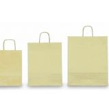 25 SHOPPERS CARTA KRAFT 36x12x41cm TWISTED avorio
