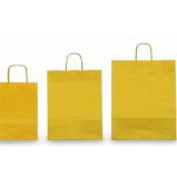 25 SHOPPERS CARTA KRAFT 36x12x41cm TWISTED giallo
