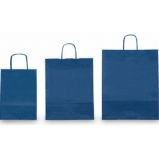 25 SHOPPERS CARTA KRAFT 36x12x41cm TWISTED blu