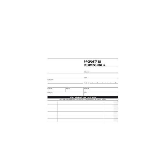 BLOCCO COPIA COMMISSIONE 23X15cm 50fg 2 copie aurotic. E5229A EDIPRO