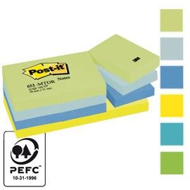 BLOCCO 100foglietti Post-it 38x51mm 653-MTDR DREAM 72GR ASSORTITO