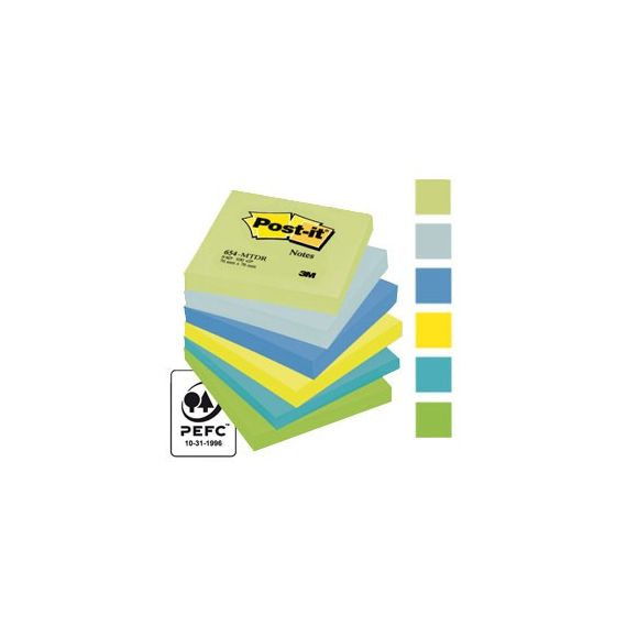 BLOCCO 100foglietti Post-it 76x76mm 654-MTDR DREAM 72GR ASSORTITO