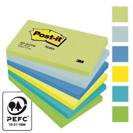 BLOCCO 100foglietti Post-it 76x127mm 655-MTDR DREAM 72GR ASSORTITO