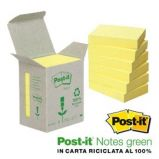 BLOCCO 100foglietti Post-it Notes Green 38x51mm 653-1B GIALLO