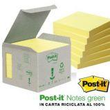BLOCCO 100foglietti Post-itNotes Green 76x76mm 654-1B GIALLO