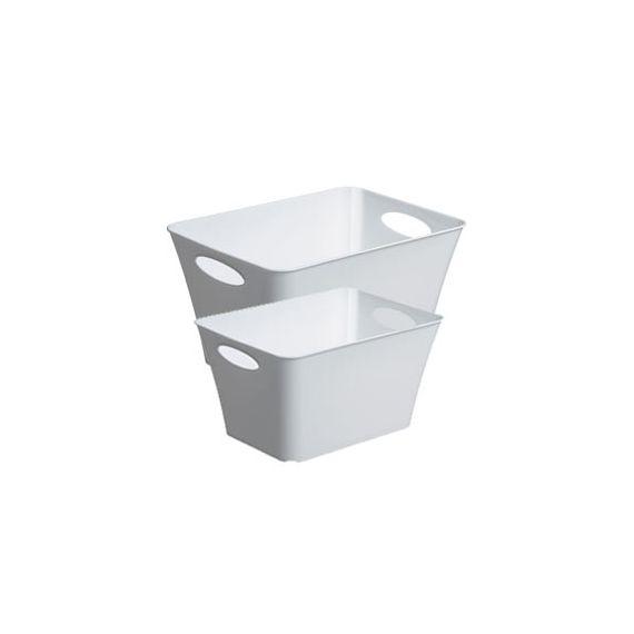 CONTENITORE LIVING BOX 52,6x39,2x31CM - 44LT BIANCO LUCIDO