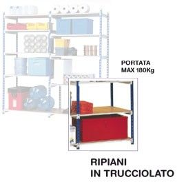 SET 5 RIPIANI IN LEGNO 100x35cm PER SCAFFALE PAPERFLOW