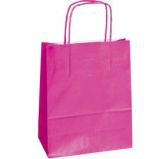 25 SHOPPERS CARTA KRAFT 22X10X29CM TWISTED MAGENTA