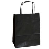 25 SHOPPERS CARTA KRAFT 22X10X29CM TWISTED NERO