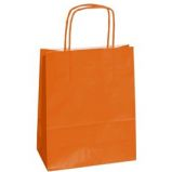 25 SHOPPERS CARTA KRAFT 26x11x34,5cm TWISTED ARANCIO