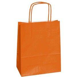 25 SHOPPERS CARTA KRAFT 36x12x41cm TWISTED arancio