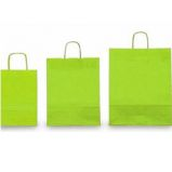 25 SHOPPERS CARTA KRAFT 45X15X50CM TWISTED verde acido