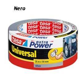 NASTRO ADESIVO 25mtx50mm NERO tesa Extra Power Universal