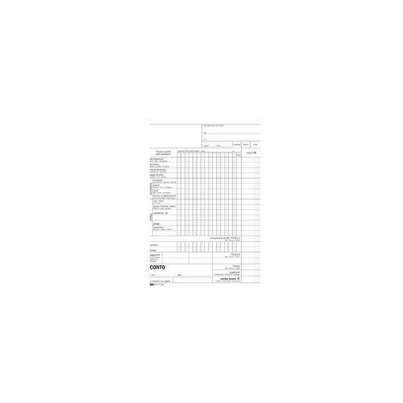 BLOCCO CONTO ALBERGO/PENSIONE 15GG 23X15CM 100FG USO MANO E5965