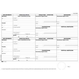 BLOCCO CARICO/SCARICO RIFIUTI NON DETENTORI (Mod. B) 100PAG. 22,5x29,7cm E2871