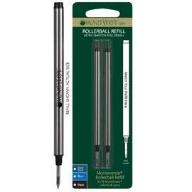 Blister 2 refill in metallo per ROLLER Montblanc NERO PUNTA MEDIA