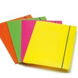 CARTELLINA 3L CON ELASTICO COLORI FLUO SHOCKING FILE
