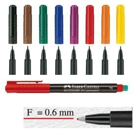 BUSTA 8 COLORI PENNARELLO MULTIMARK 0,6mm FINE FABER-CASTELL