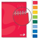 BLOCCO NOTES SPIRALATO lato corto 150x210mm 90gr 50fg 5mm COLOR BM