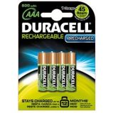 BLISTER 4 PILE RICARICABILI AAA - MINISTILO 800mAh DURACELL PRECHARGED