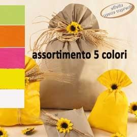 100 BUSTE REGALO IN PPL PERLA MAT 35x50cm assortimento 5 colori