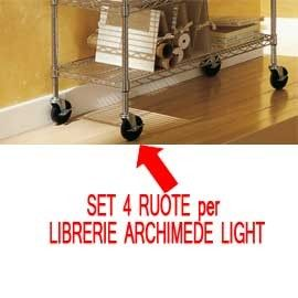 SET 4 RUOTE per LIBRERIE ARCHIMEDE LIGHT