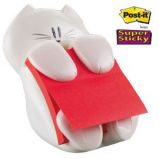 DISPENSER GATTO + RICARICA Post-itSuper Sticky Z-Notes 76x76mm ROSSO RUBINO