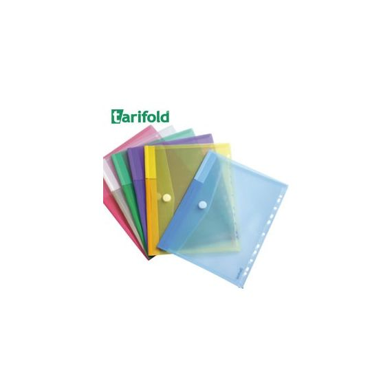 SET 12 BUSTE FORATE PPL CON VELCRO COLORI ASSORTITI TARIFOLD