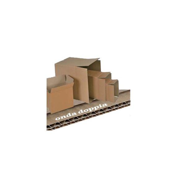 SCATOLA CARTONE PER IMBALLO AVANA ONDA doppia P430xL304xH273mm