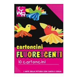 PACK 10 CARTONCINI FLUO 35x50cm 260g colori ass. CWR 334