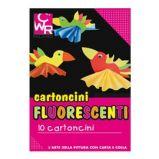 PACK 10 CARTONCINI FLUO 35x50cm 260g colori ass. CWR 334