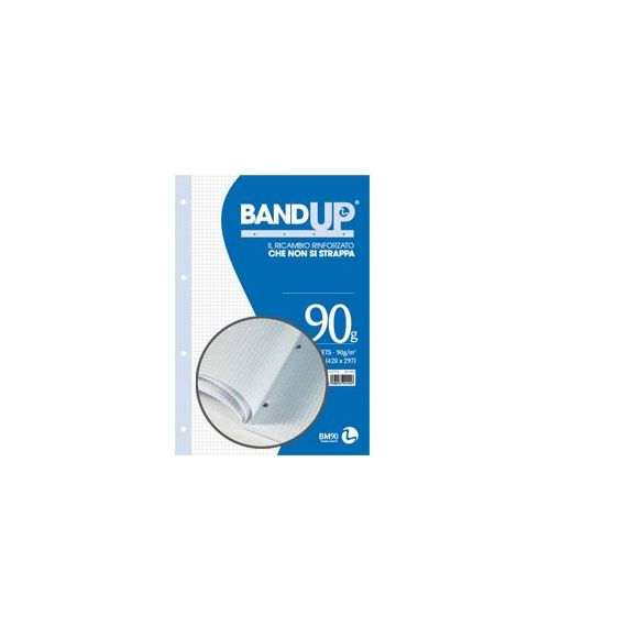 BLOCCO COLLATO FORATI RINFORZATI BANDUP A4 90gr 40fg 4mm BM