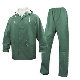 COMPLETO IMPERMEABILE EN304 Tg. L verde (giacca+pantalone)