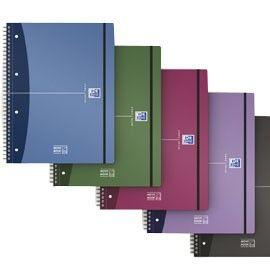 MAXI SPIRALATO PPL METAL 230x297 Rigato c/margine 90g 80fg MOVEBOOK OXFORD