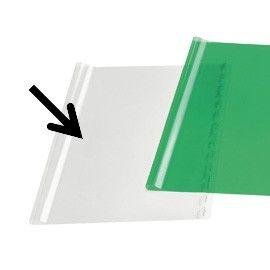 COPRILIBRO CRISTAL LISCIO NEUTRO TRASPARENTE 50x31cm C/ADESIVO RI.PLAST