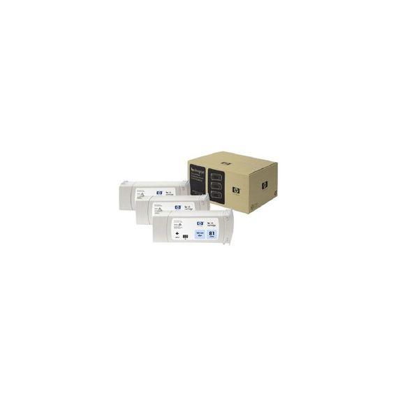 CONFEZIONE MULTIPLA 3 INCHIOSTRI DYE HP N.81 CIANO CHIARO 680ML/CAD.