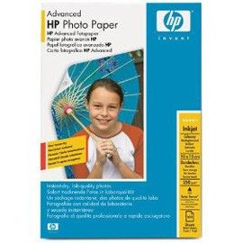 RISMA 100 FG CARTA HP ADVANCED GLOSSY PHOTO PAPER 250 G/M-10 X 15 CM BORDERLESS