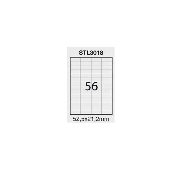 ETICHETTA ADESIVA BIANCA 100FG A4 (56 ET. 52,5X21,2mm) STARLINE