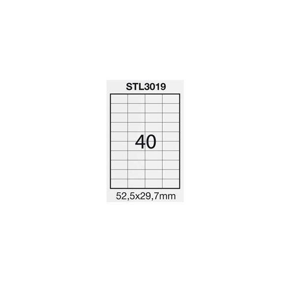 ETICHETTA ADESIVA BIANCA 100FG A4 (40 ET. 52,5X29,7mm) STARLINE