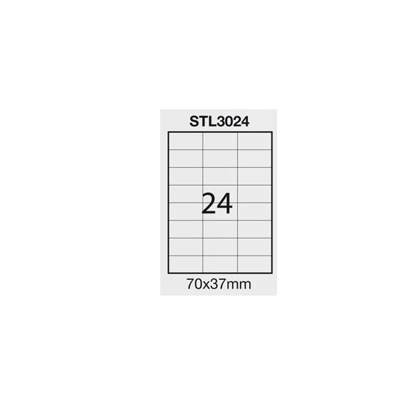 ETICHETTA ADESIVA BIANCA 100FG A4 (24 ET. 70X37mm) STARLINE