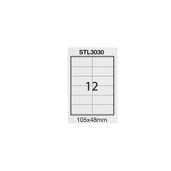 ETICHETTA ADESIVA BIANCA 100FG A4 (12 ET. 105X48mm) STARLINE