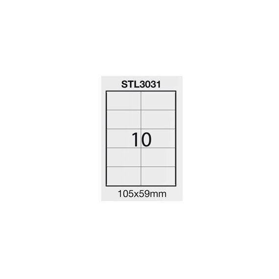 ETICHETTA ADESIVA BIANCA 100FG A4 (10 ET. 105X59mm) STARLINE