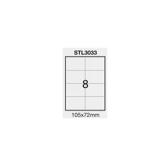 ETICHETTA ADESIVA BIANCA 100FG A4 (8 ET. 105X72mm) STARLINE