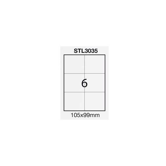 ETICHETTA ADESIVA BIANCA 100FG A4 (6 ET. 105X99mm) STARLINE